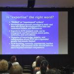 Slide from expertise presentation at SSLW